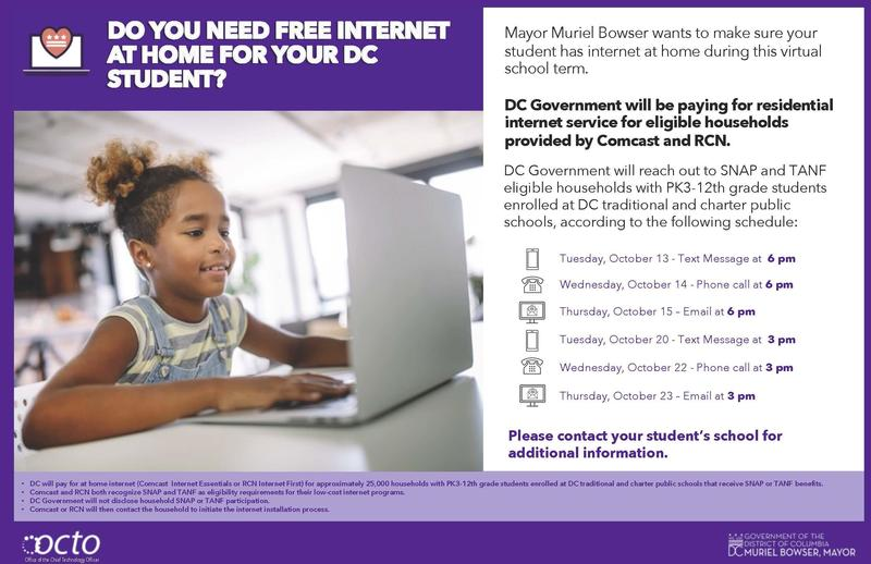 Free Home Internet for Eligible DC Residents Featured Photo