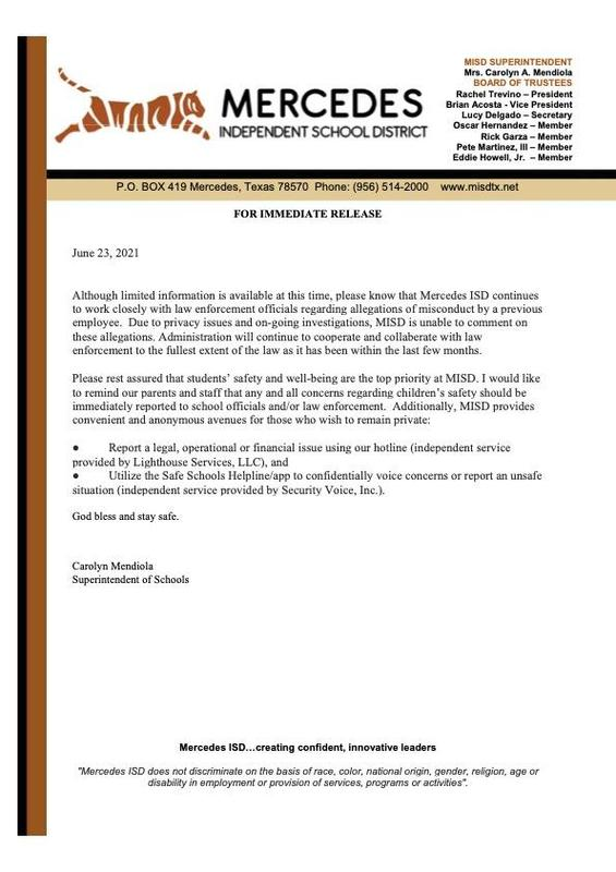 Letter from the Superintendent of Schools   6-23-2021 Featured Photo