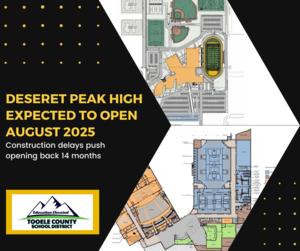 Deseret Peak High opening date delayed until August 2025