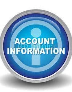 account information round icon blue