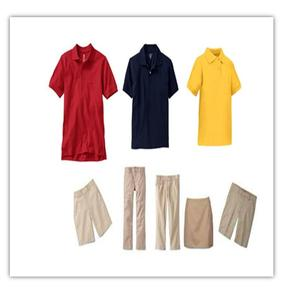 image of uniform shirts and pants