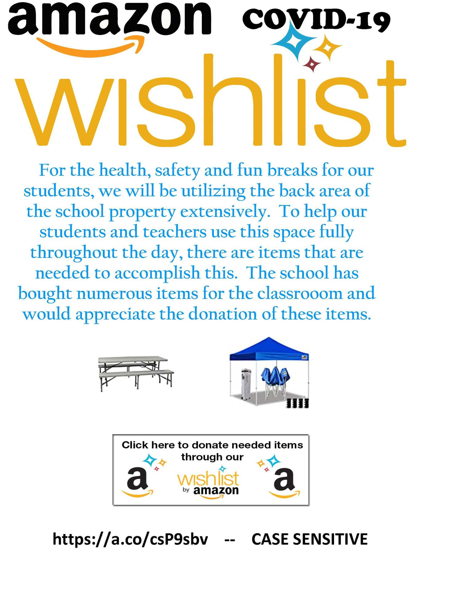Amazon Wish List Flyer