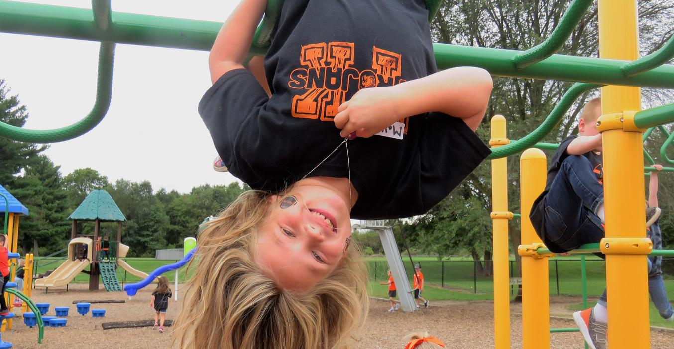 McFall students love hanging upside down.
