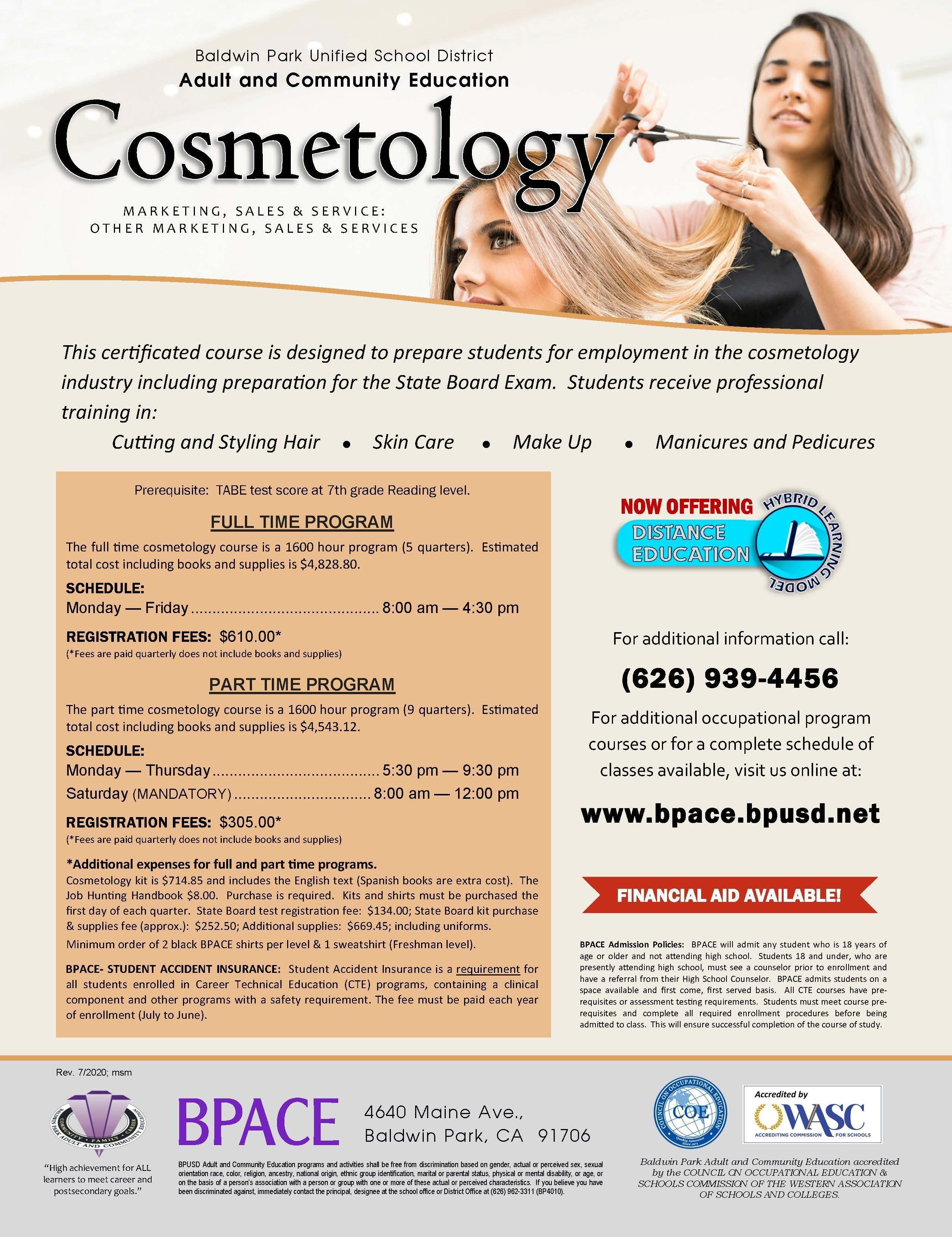 Cosmetology Class Flyer