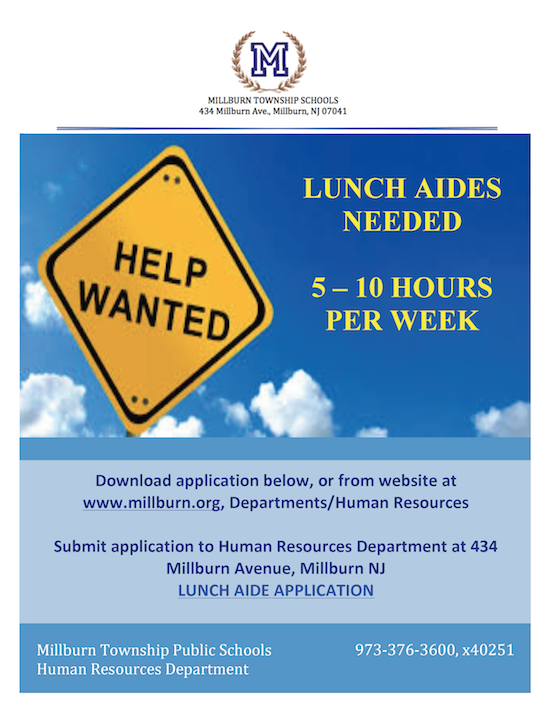Lunch Aides flier