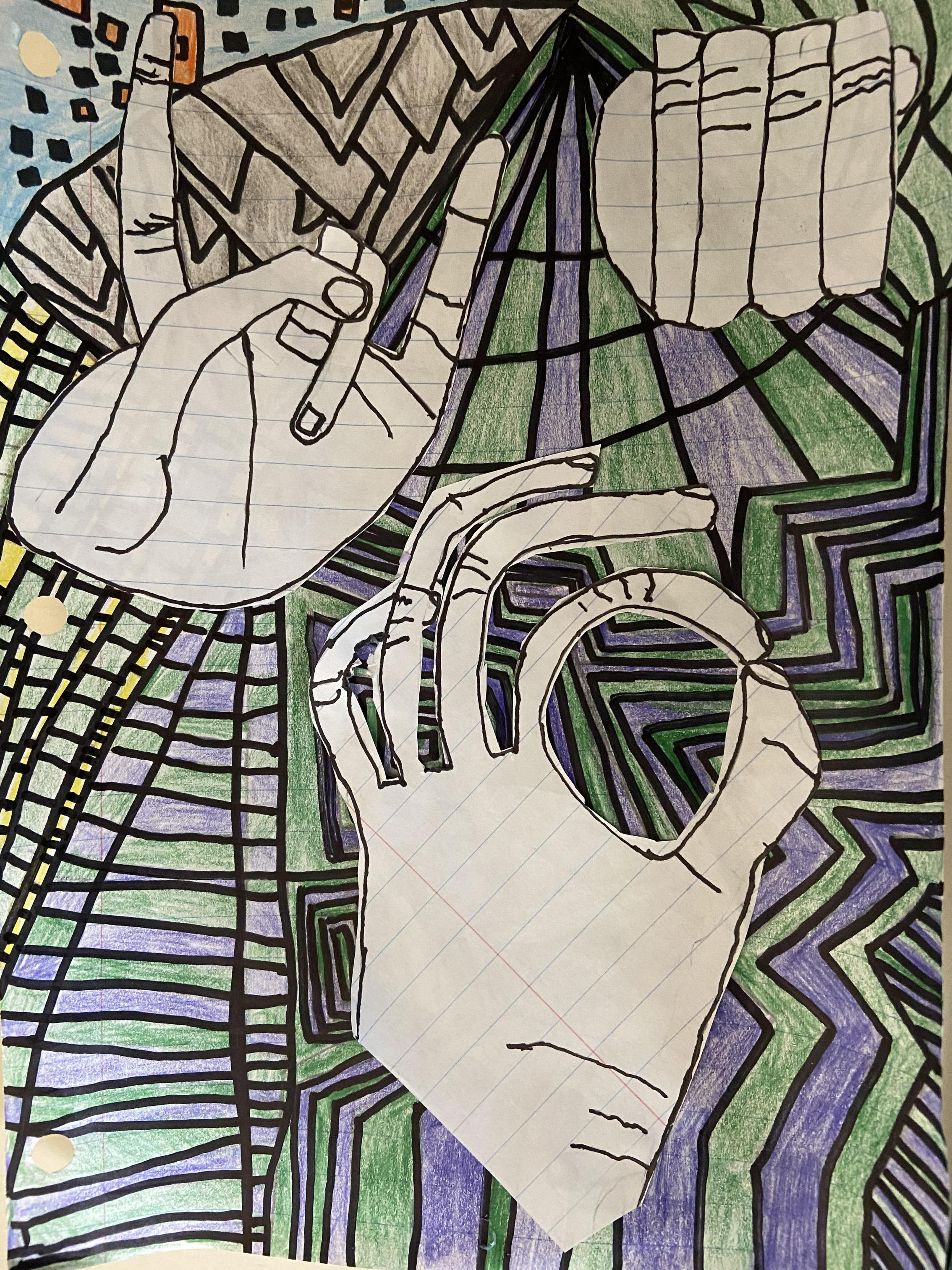 Creative Contour Hands