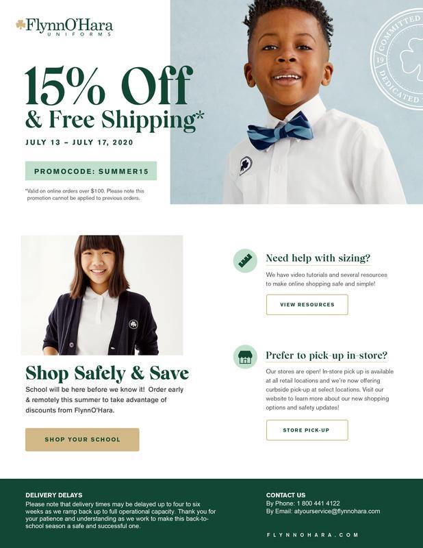 Uniform Sale July 13-17 Thumbnail Image