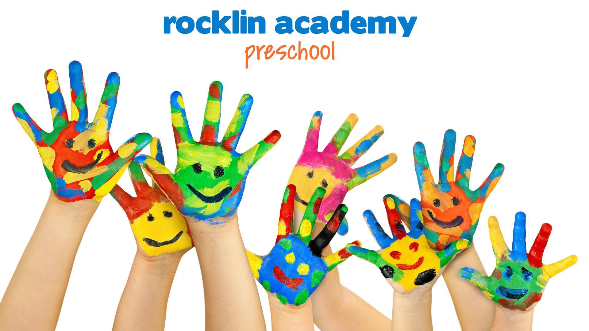 preschool hands covered in paint