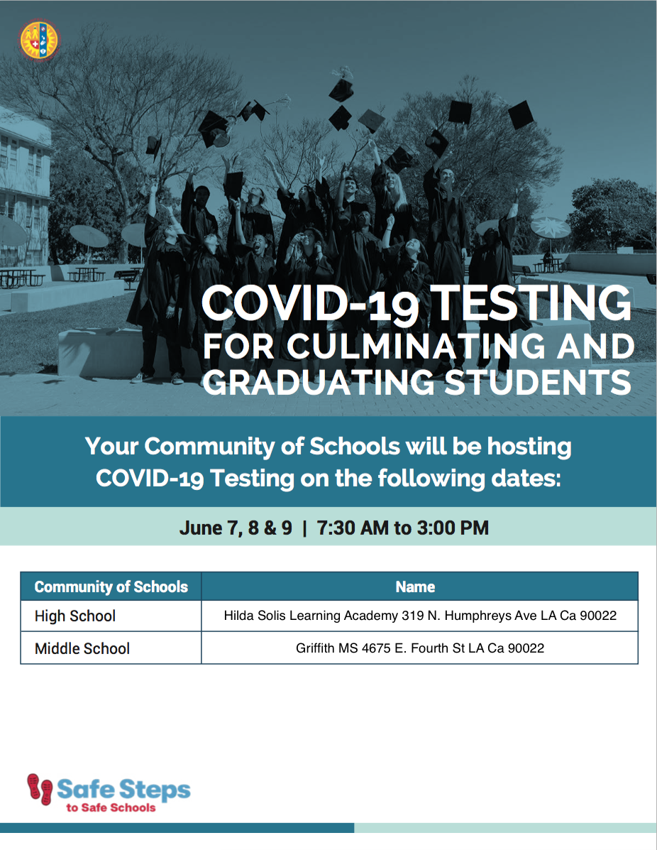 COVID-19 TESTING FOR GRADUATING STUDENTS
