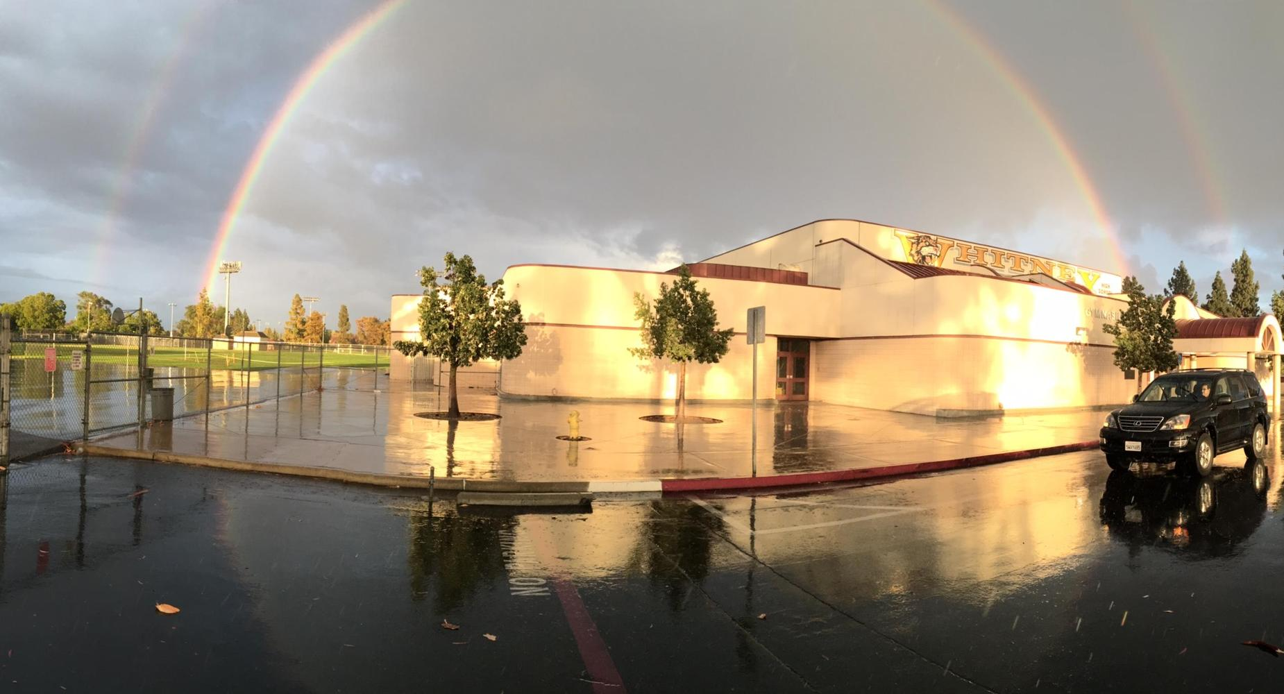 Rainbow over gym