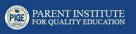 PIQE Parent Institute for Quality Education blue and gold Logo