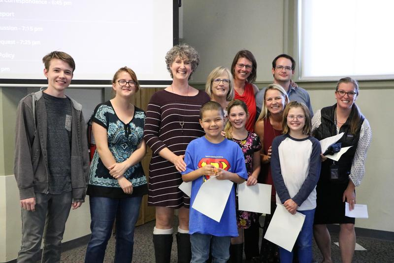 Image of Animas Valley recognitions at a board meeting
