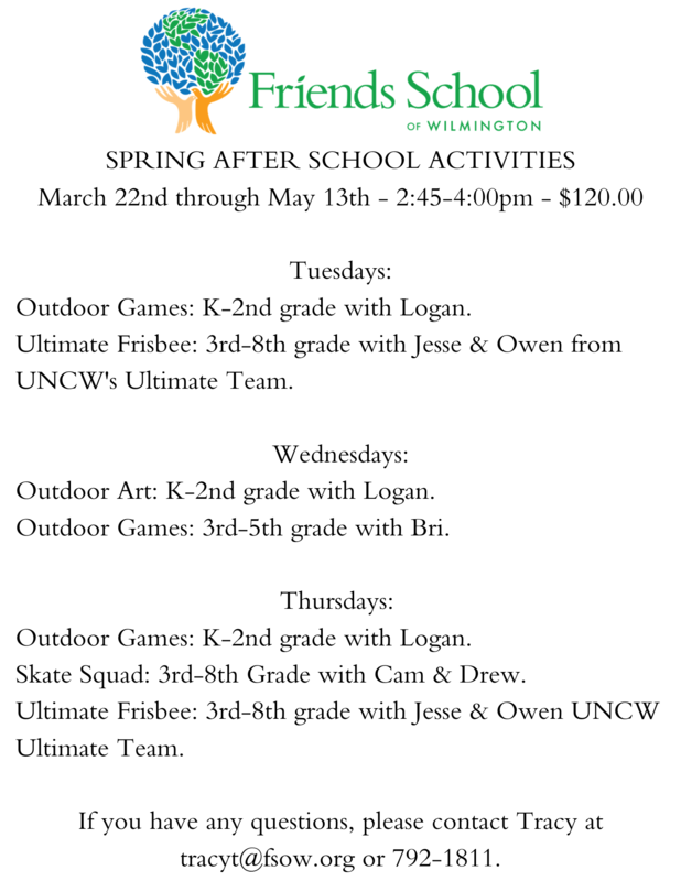 Registration is Open for Spring After School Activities Featured Photo