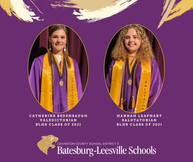 B-L High School Class of 2021 Valedictorian and Salutatorian Announced