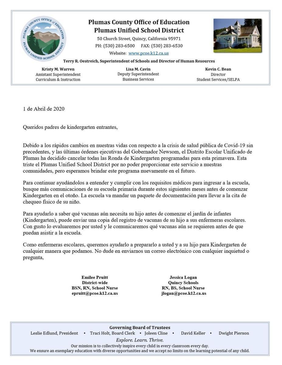 Kindergarten Roundup Cancelation Notice Eng