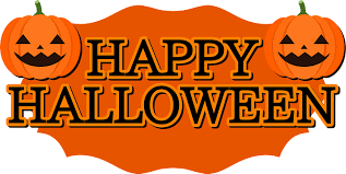 clip art that says happy halloween