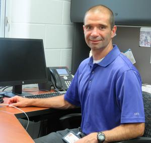 Page Elementary Principal Gregg Bruno prepares for opening day.