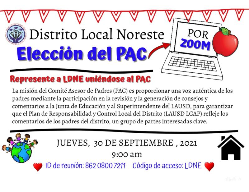 Parent Advisory Committee (PAC) Election - Spanish Featured Photo