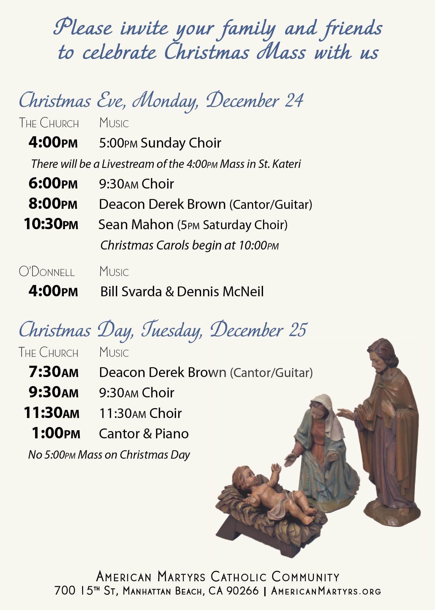 Christmas Mass Schedule Image