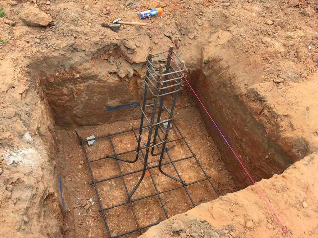 Foundation materials in ground