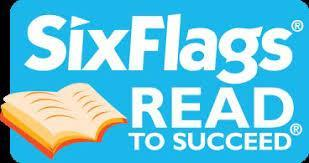 six flags reading logo