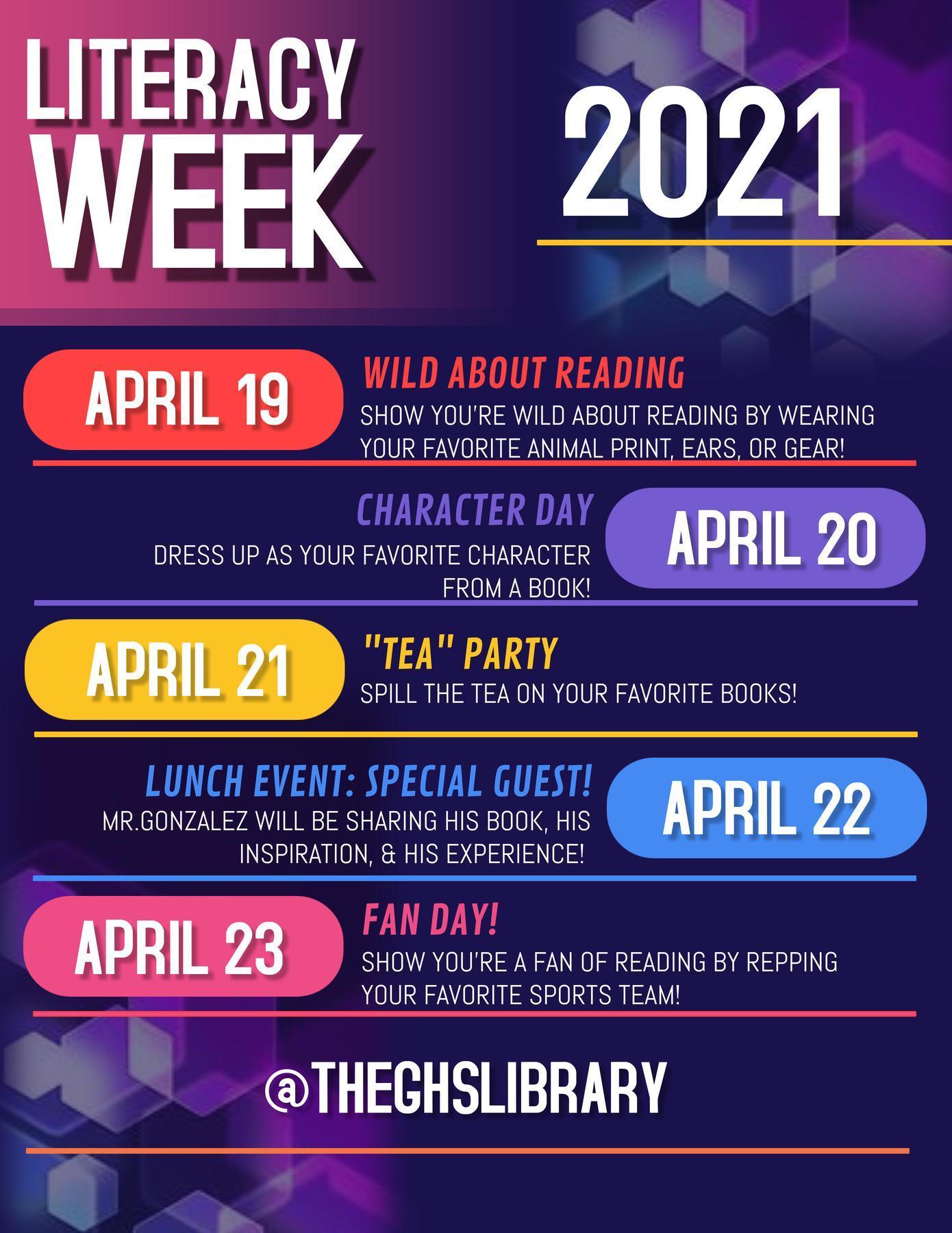Literacy Week 2021!