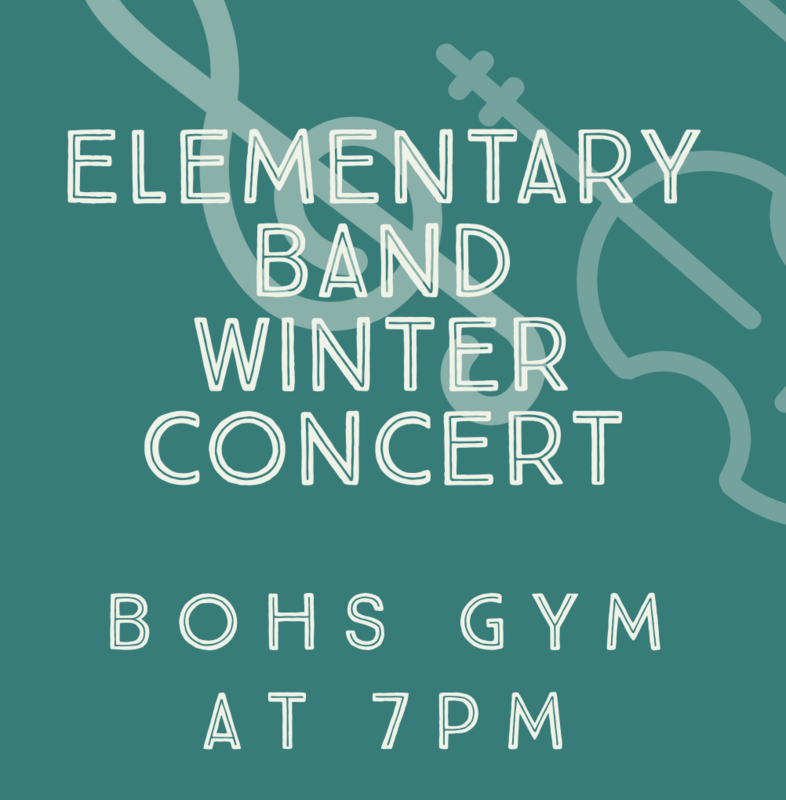 Elementary Band Winter Concert