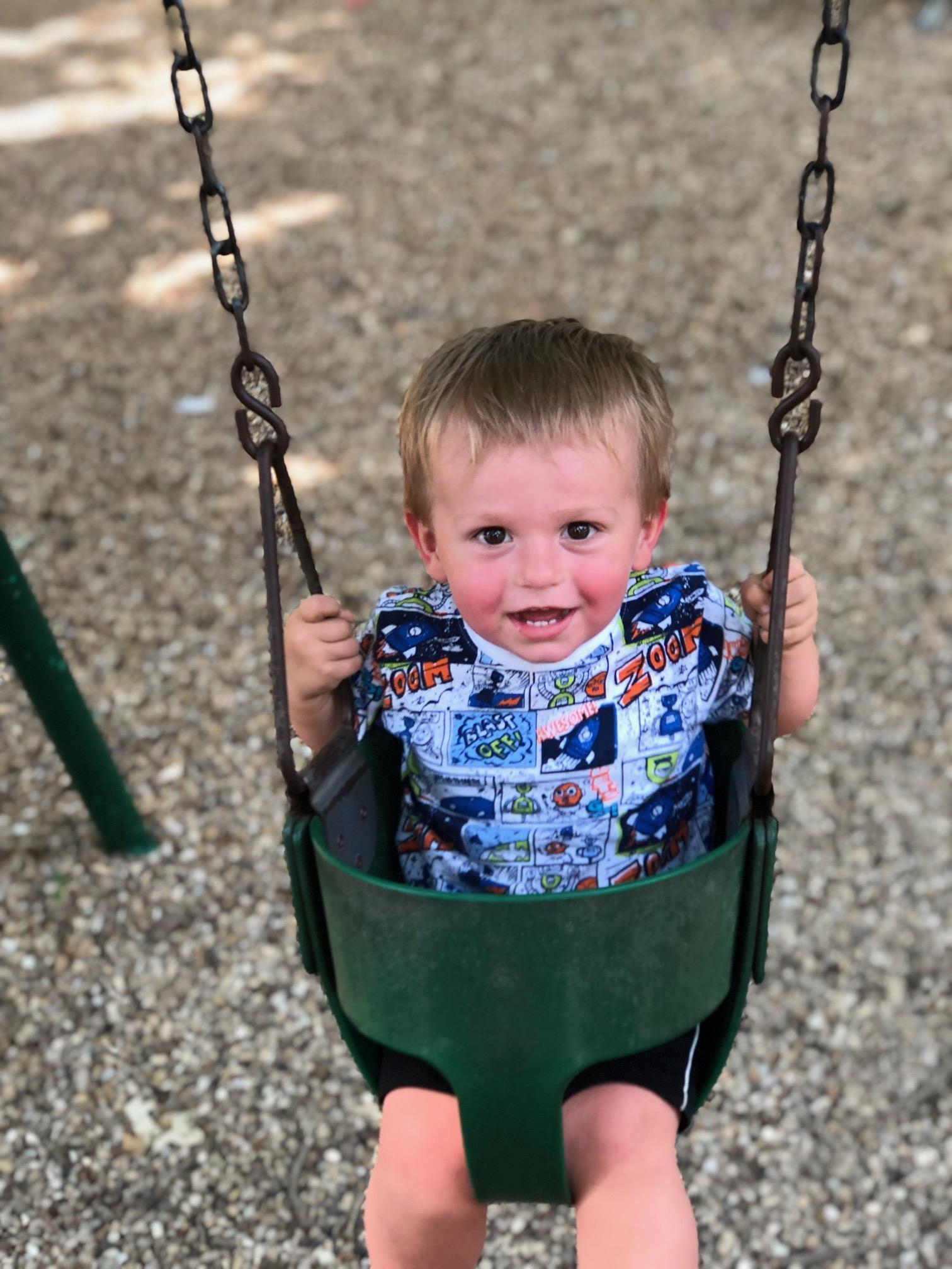 Cooper swinging