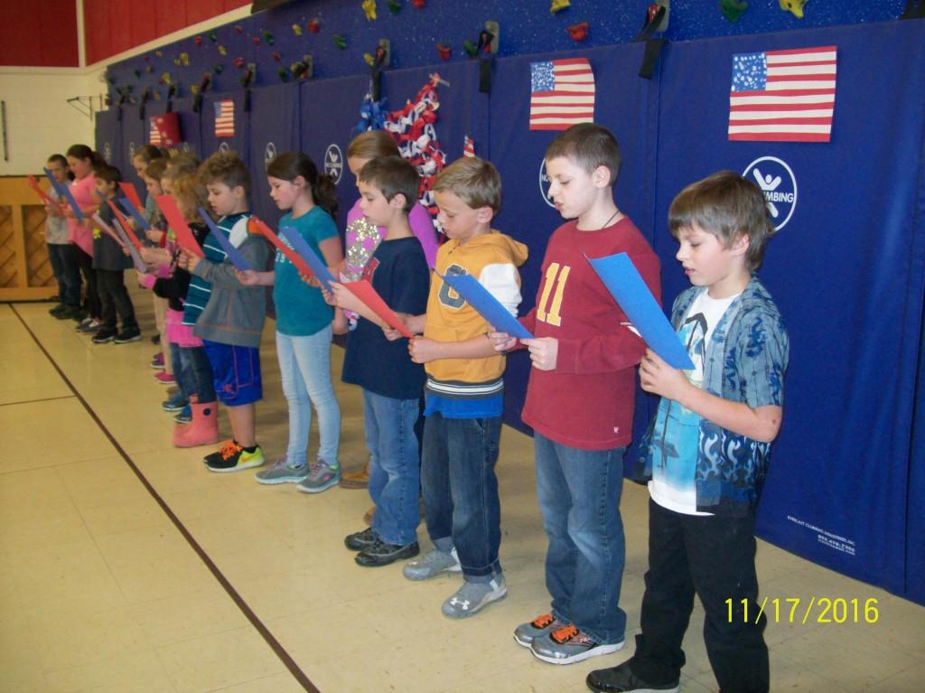 Veterans Day Observation - third grade