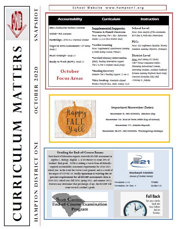 Curriculum Matters Newsletter
