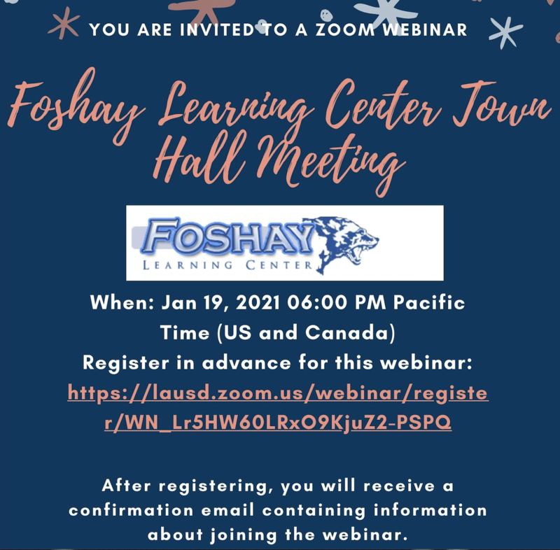 Foshay Town Hall Meeting on January 19th @ 6:00pm Featured Photo