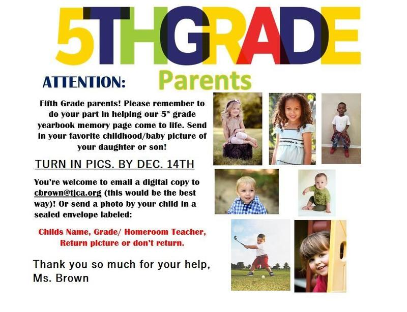 Advertisement for 5th grade baby pictures