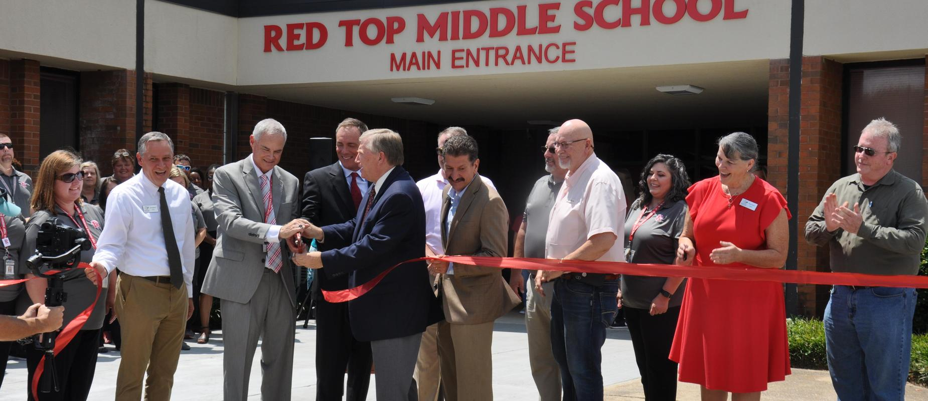 Red Top Middle School Ribbon Cutting ceremony