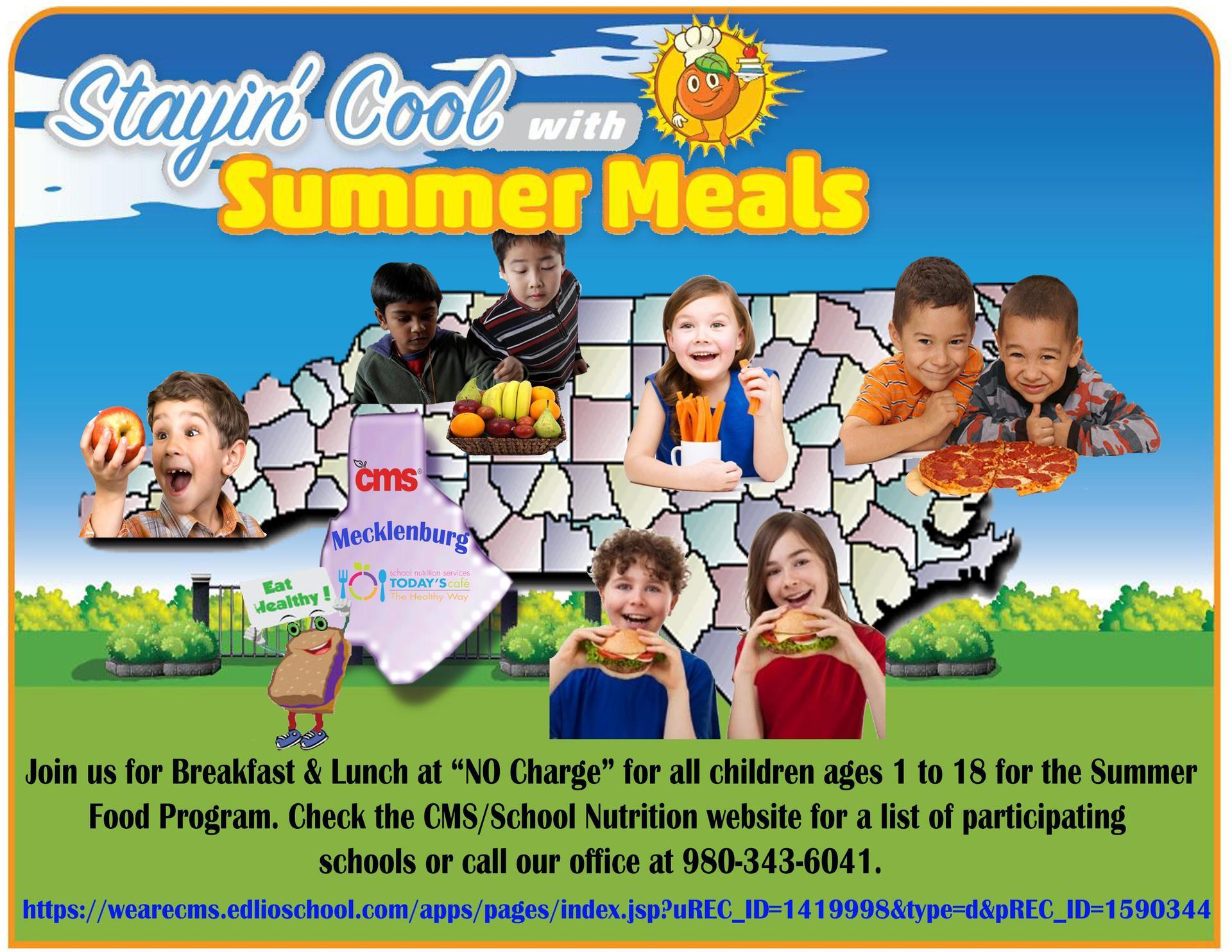 Summer Food Service Program 2019 Flyer
