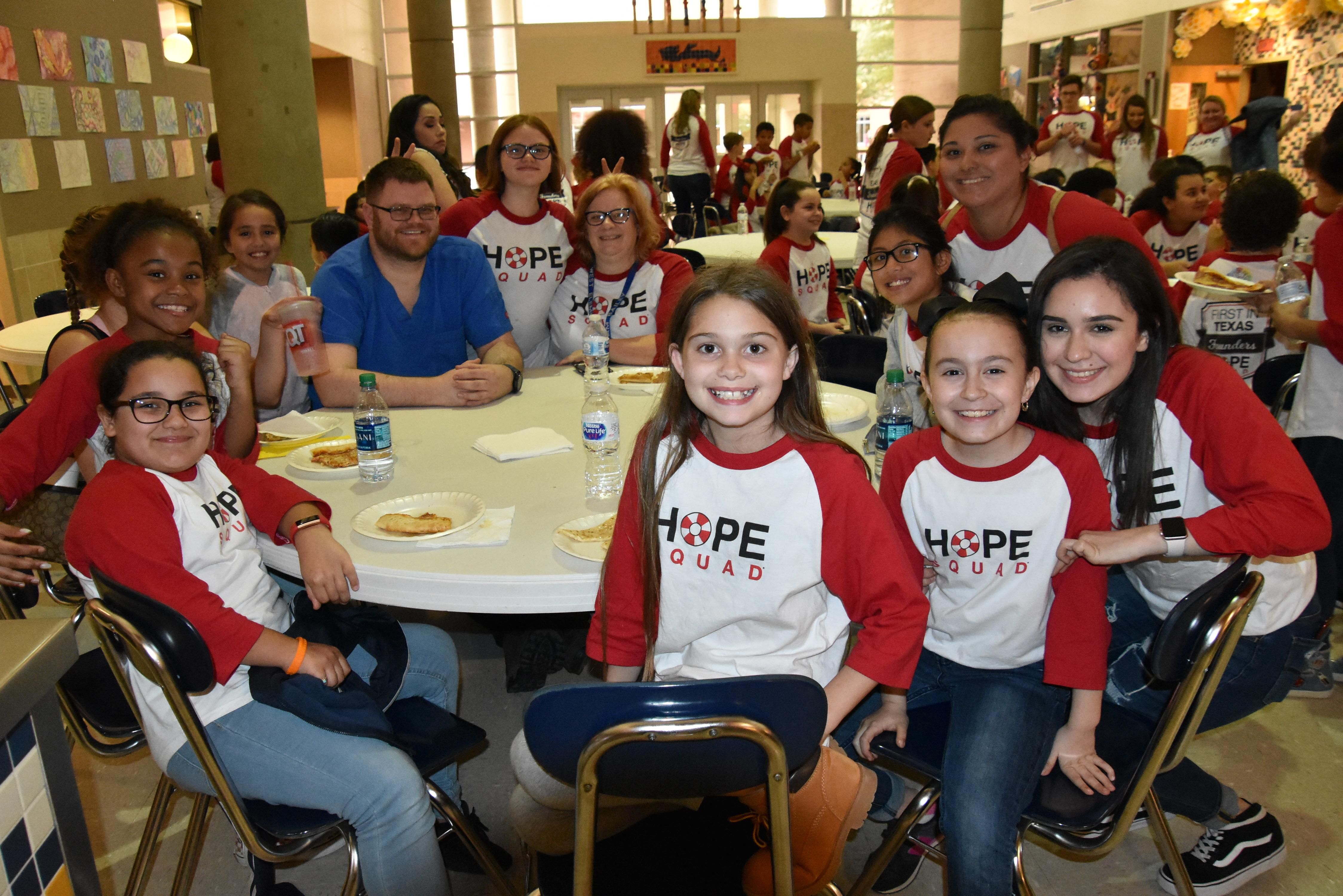 WSISD HOPE Squad members in grades four through 12 kicked off Hope Week with a team building event that included games, cheers and an opportunity to get to know one another before the district-wide HOPE Rally on Feb. 4.