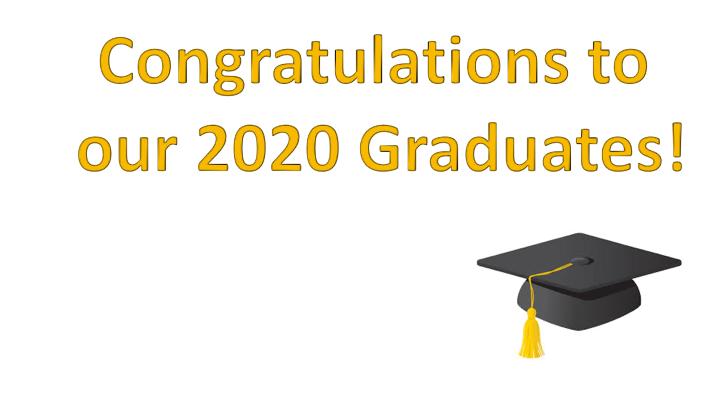 Congratulations to 2020 Graduates
