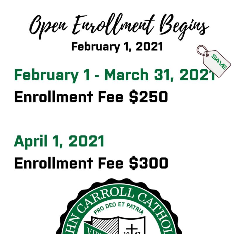 Open Enrollment/Re-Enrollment for the 2021-2022 School Year Begins February 1st!  Click