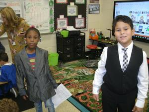 Second graders dressed for Government Day.