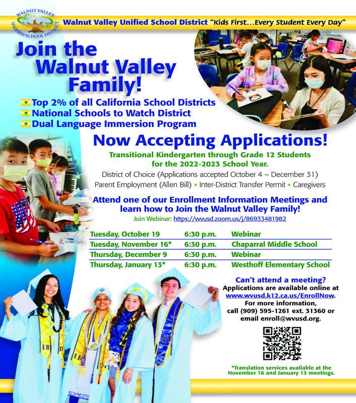 Enrollment for 2022-2023 School Year