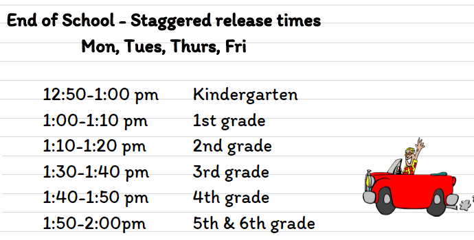 Q4 List of staggered release times