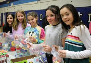 Photo of students participating in Community Service Week.