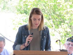 TKHS student Hanna Hollis speaks about the impact of 9-11 in her family.