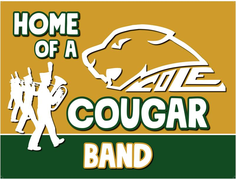 Sample Cougar Yard Sign for Band