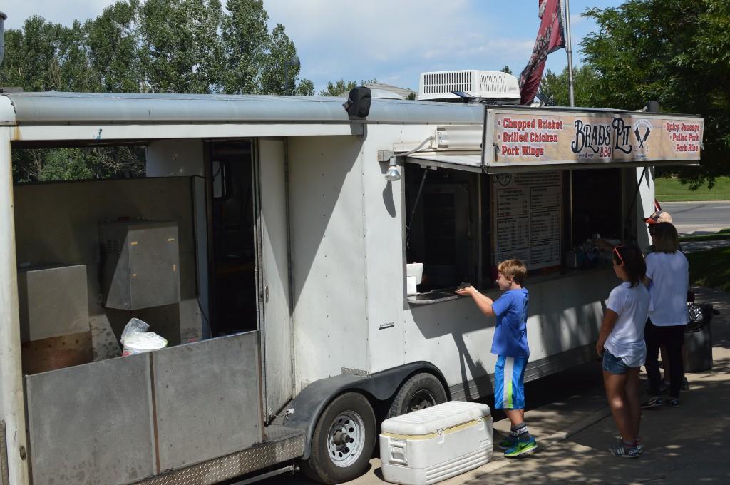 Food trucks at the Blast Off event.
