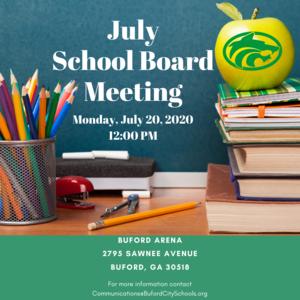 July Board Meeting Information