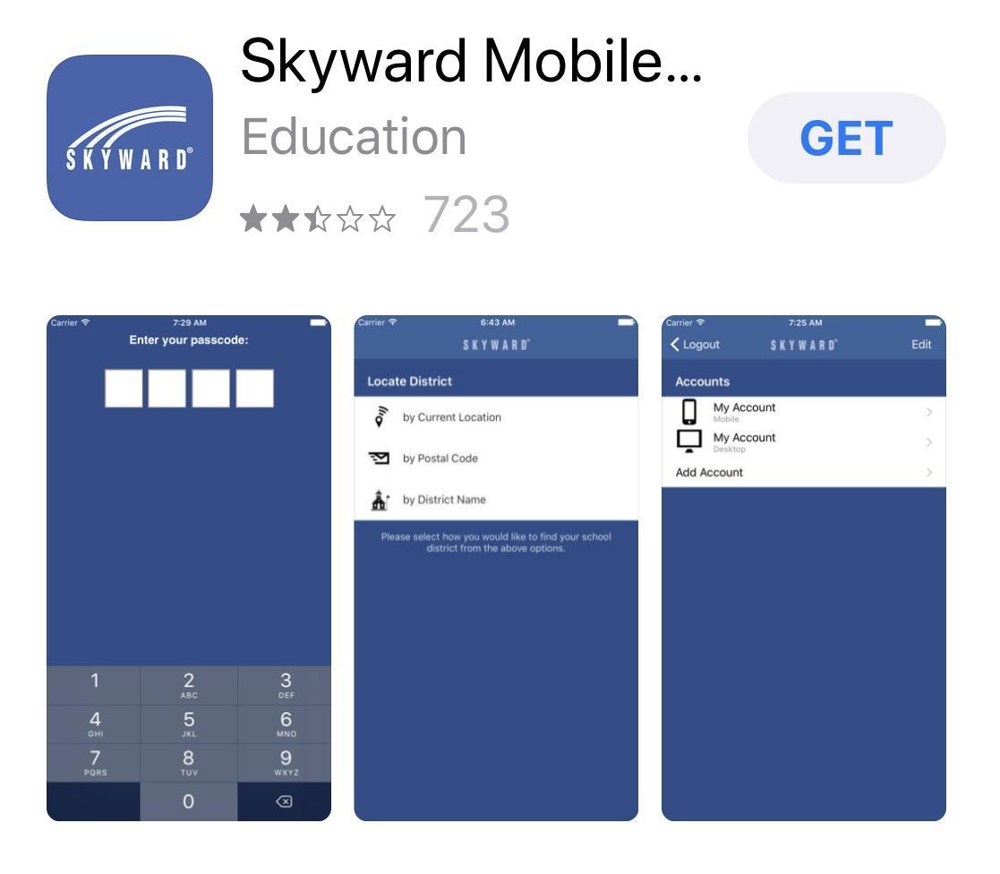 Example of Skyward App