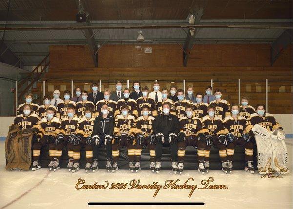 Group photo of Canton Bears Boys Ice Hockey Team seated
