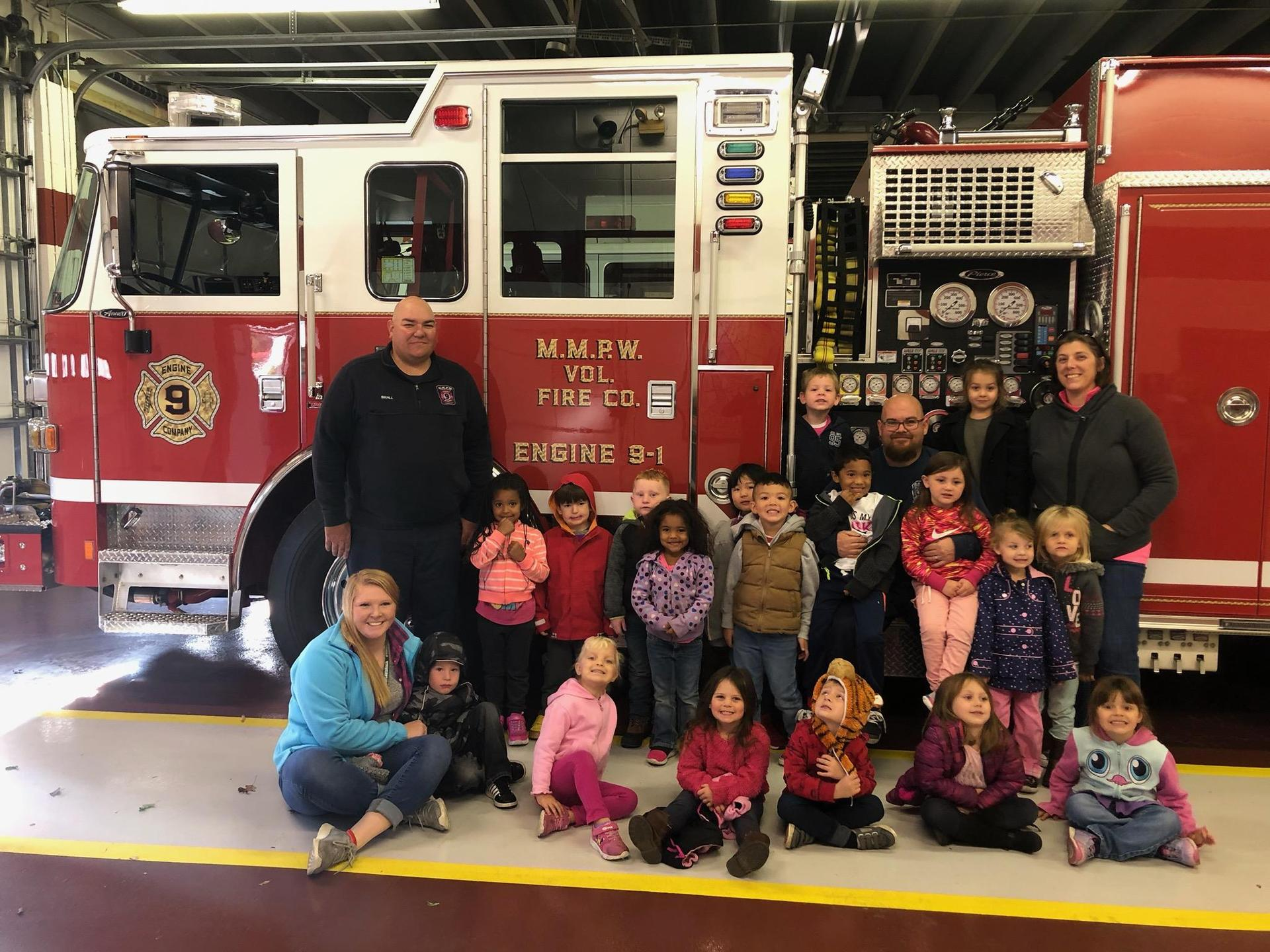 mercersburg prek with mercersburg volunteer fire company