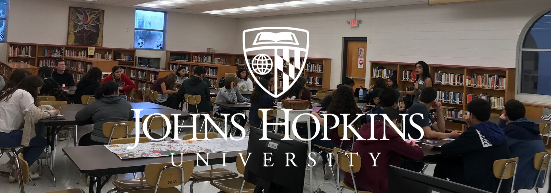 John Hopkins visits Lamar Academy