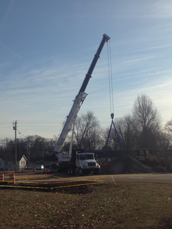 Construction February 2017; Annex parking lot